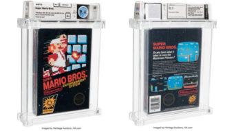 Super Mario Bros. lacrado quebra recorde ao ser vendido por US$ 660 mil