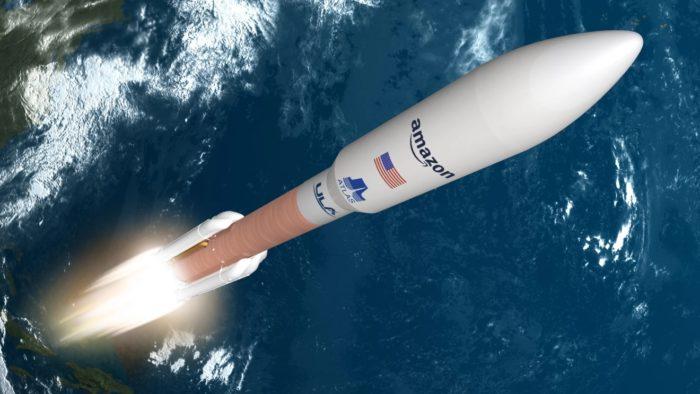 Foguete Atlas V (imagem: divulgação/Amazon)