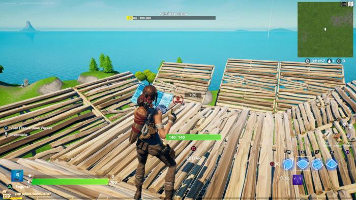 Modo Criativo suporta construção infinita (Imagem: Reprodução/Epic Games) / como treinar construção fortnite