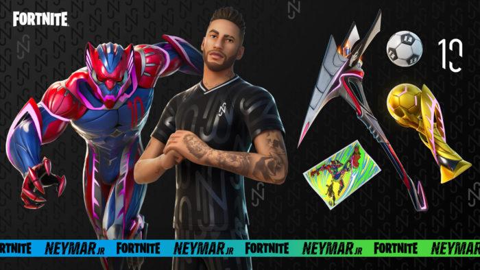 Fortnite terá traje e itens de Neymar Jr. nesta semana (Imagem: Divulgação/Epic Games)