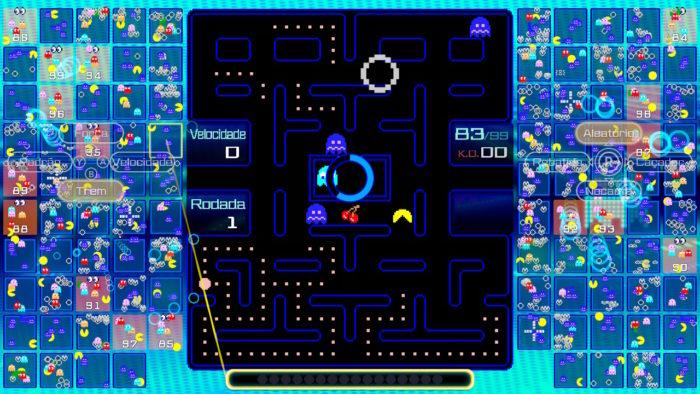 Frutas em Pac-Man 99 (Imagem: Reprodução/Bandai Namco)
