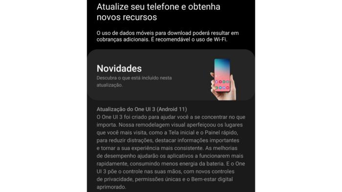 Galaxy A70 recebe Android 11 no Brasil (Imagem: Reprodução/Samsung)