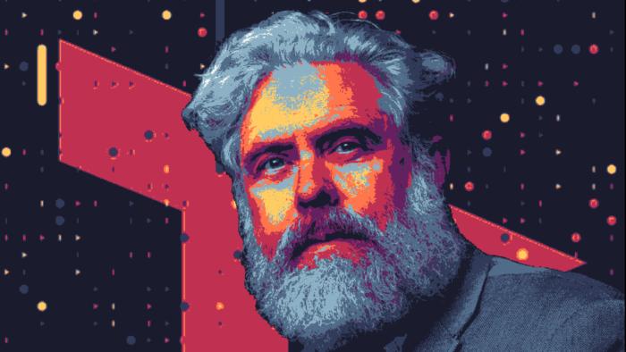 Uma das artes digitais consideradas para representar o genoma de George Church como NFT (Imagem: Reprodução/Nebula Genomics)