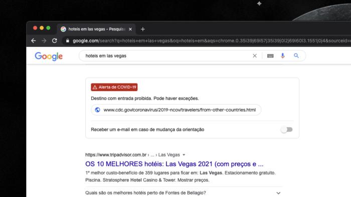 Google exibe mais informações sobre COVID-19 (Imagem: reprodução/Google)
