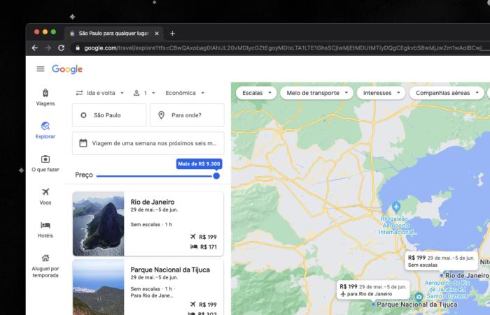 Google Viagens exibe parques nacionais e cidades menores (Imagem: reprodução/Google Viagens)