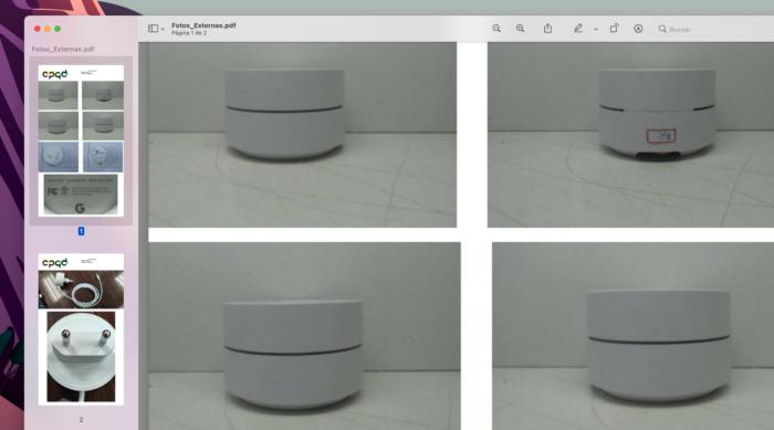 Fotos do Google Wifi certificado pela Anatel (Imagem: Reprodução/Tecnoblog)