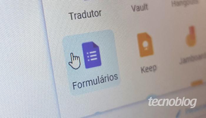 Google Forms (Imagem: Ana Marques/Tecnoblog)