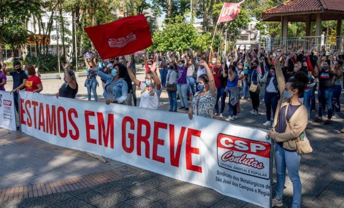 Trabalhadores de fornecedoras da <a href='https://meuspy.com/tag/LG-espiao'>LG</a> decidiram manter greve (Imagem: Roosevelt Cássio)