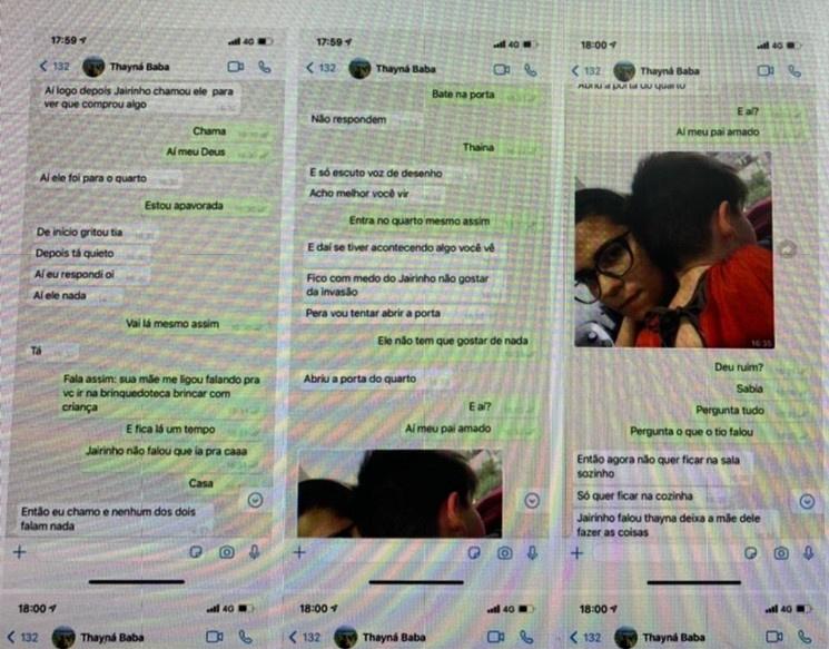 Prints de WhatsApp recuperados pela polícia haviam sido apagados (Imagem: Reprodução)