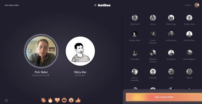 Hotline (Imagem: Reprodução/TechCrunch)