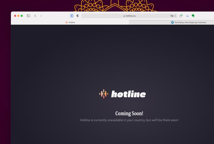 Hotline, resposta do Facebook ao Clubhouse, ainda não está disponível no Brasil (Imagem: Reprodução/Tecnoblog)