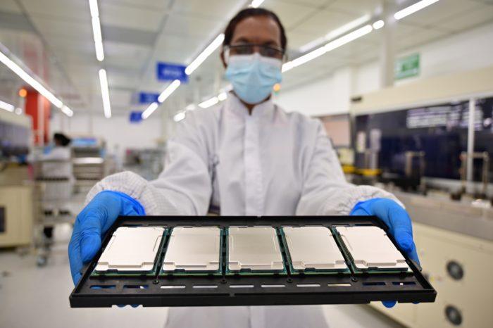 Chips Xeon Scalable de terceira geração (imagem: divulgação/Intel)