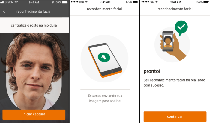 Itaú usa biometria facial para liberar iToken (Imagem: Divulgação)