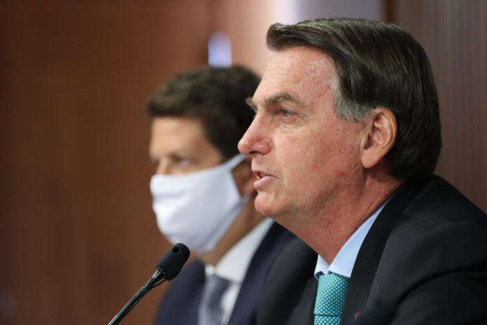 Jair Bolsonaro durante Cúpula de Líderes sobre o Clima (Imagem: Marcos Corrêa/PR)