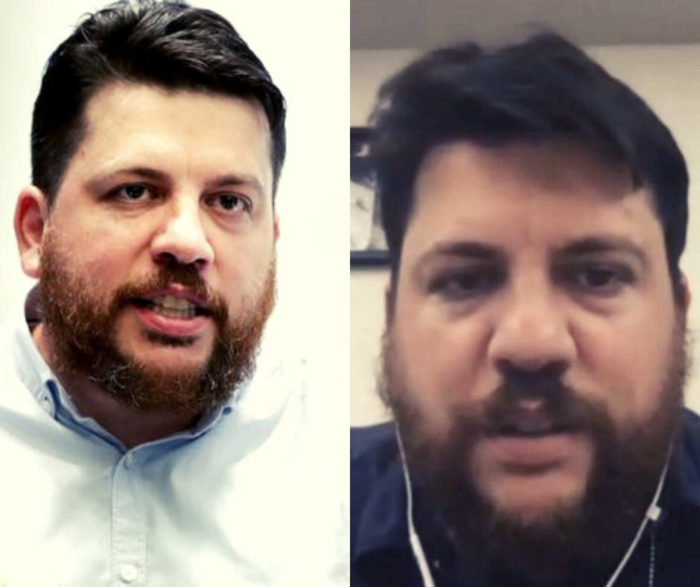 À esquerda, Leonid Volkov; à direita, Alexei Stolyarov – e não um deepfake (Imagem: Reprodução/Twitter)