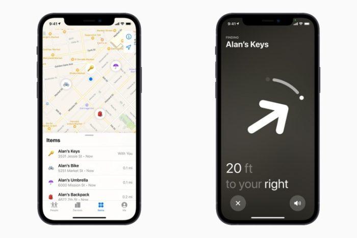 Rede Buscar espalha sinal do AirTag perdido para ajudar no rastreio (Imagem: Divulgação/Apple)