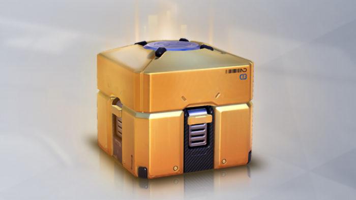 Loot box com itens lendários de Overwatch (Imagem: Divulgação/Blizzard)