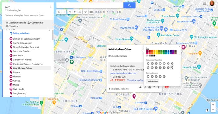 Como criar um mapa no Google Maps (Imagem: Reprodução/My Maps)