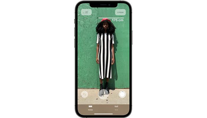 """Interface do app """"Medida"""" (Imagem: Divulgação/Apple)"""