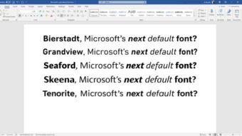 Microsoft vai escolher nova fonte padrão do Office e quer sua ajuda