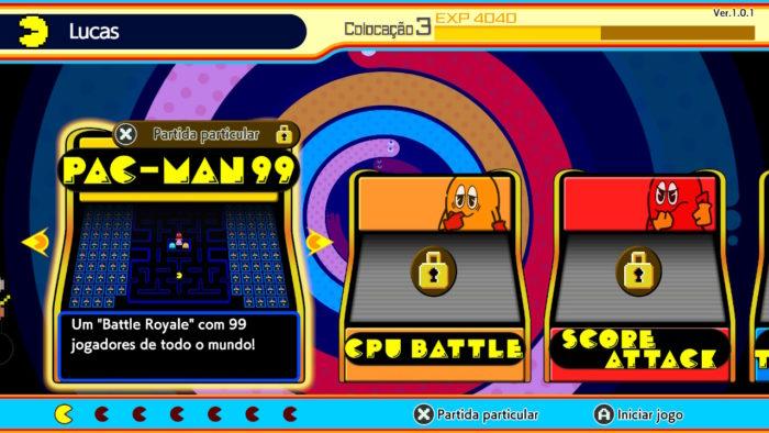 Modos de jogo de Pac-Man 99 (Imagem: Reprodução/Bandai Namco)