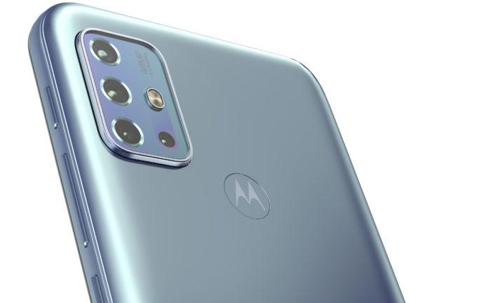 Moto G20 azul (Imagem: divulgação/Motorola)