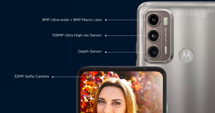 Câmeras do Moto G60 (Imgem: Reprodução/Flipkart)