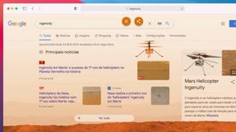 Easter egg do Google celebra voo do helicóptero Ingenuity em Marte