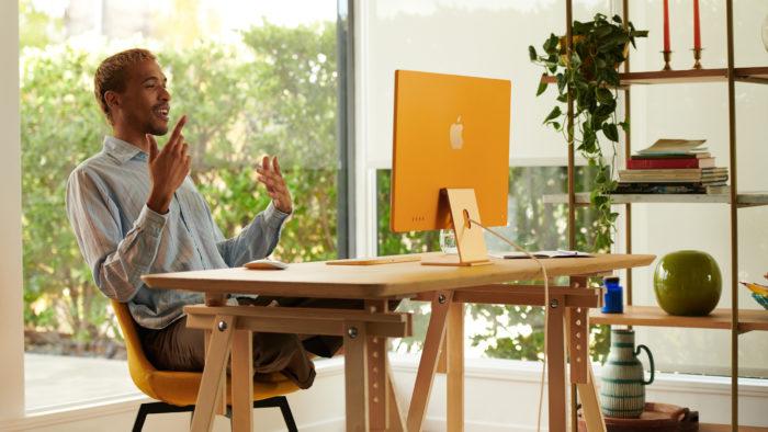 Novo iMac tem tela de 24 polegadas com resolução 4.5K (Imagem: Reprodução/Apple)