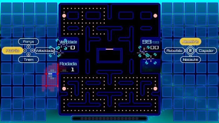 Habilidades em Pac-Man 99 (Imagem: Reprodução/Bandai Namco)