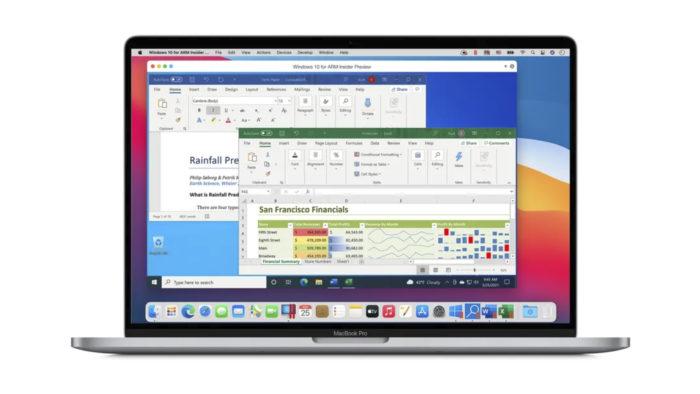 MacBook Pro com Apple M1 rodando Windows 10 ARM via Parallels Desktop 16.5 (Imagem: Divulgação/Corel)