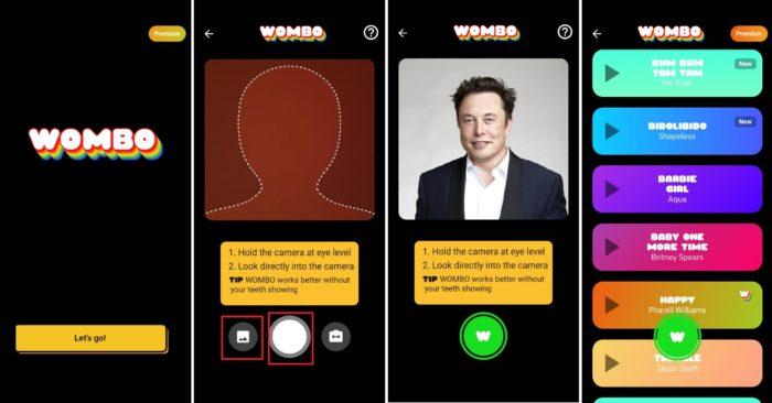 Descubra como usar o Wombo e enviaros vídeos para seus amigos (Imagem: Reprodução / Wombo)