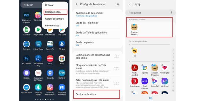 Como encontrar aplicativos ocultos pelo menu da tela de apps (Imagem: Reprodução / Android)