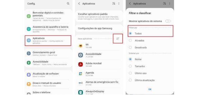 Encontre apps escondidos pelo menu de configuração do Android (Imagem: Reprodução / Android)