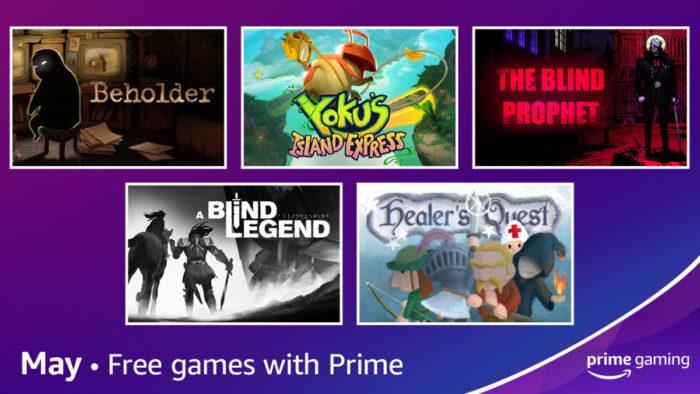 Prime Gaming de Maio / Divulgação / Amazon