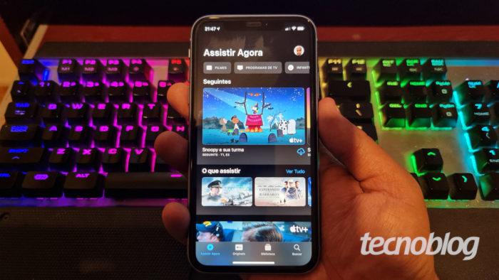 App da Apple TV no iPhone (Imagem: Ronaldo Gogoni/Tecnoblog)