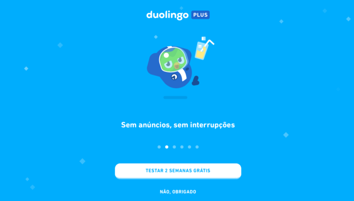 Quanto custa o Duolingo Plus? (Imagem: Reprodução/Duolingo)