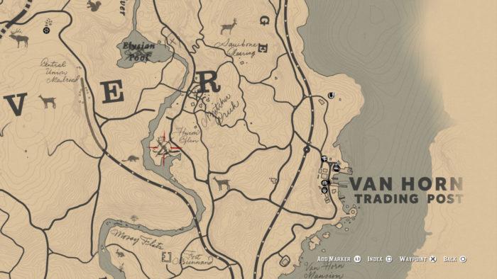 Localização do Castor Lendário no mapa (Imagem: Reprodução/Rockstar Games)