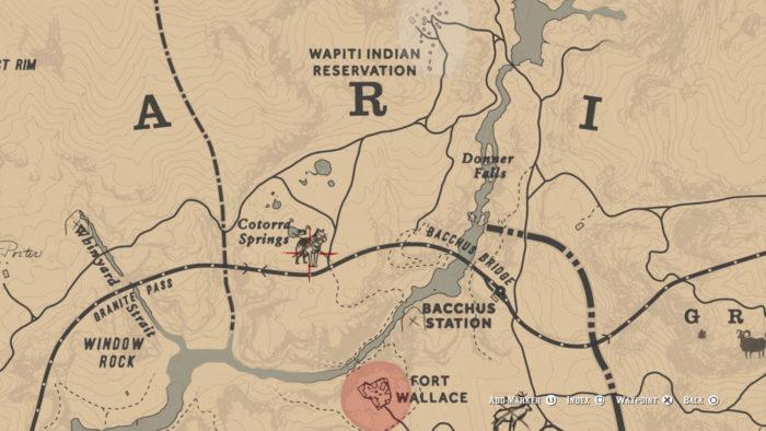 Localização do Lobo Lendário no mapa (Imagem: Reprodução/Rockstar Games)
