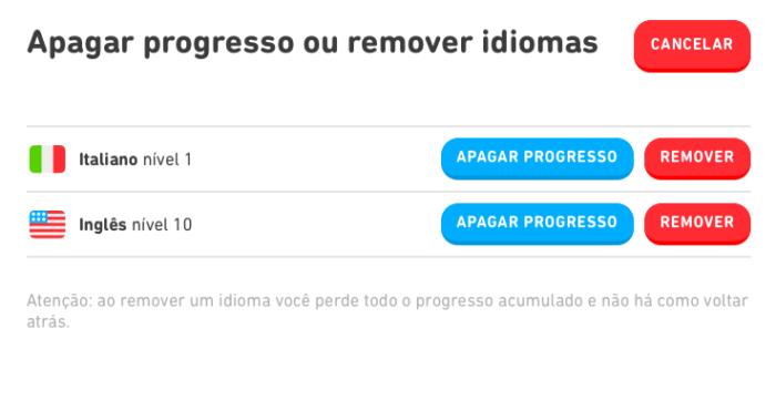 Como reiniciar o Duolingo (Imagem: Reprodução/Duolingo)