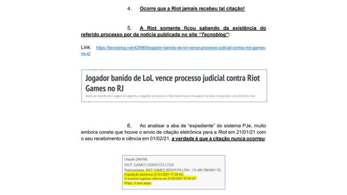 Riot Games afirma não ter sido citada no processo (Imagem: Reprodução)