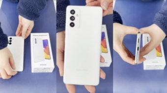 Galaxy A82 (Quantum 2) de 64 MP é revelado em vídeo de unboxing