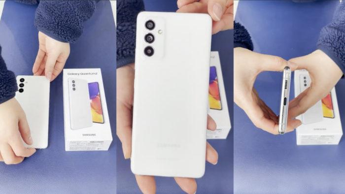 Suposto Samsung Galaxy Quantum 2 (ou Galaxy A82) (Imagem: Reprodução/SamMobile)