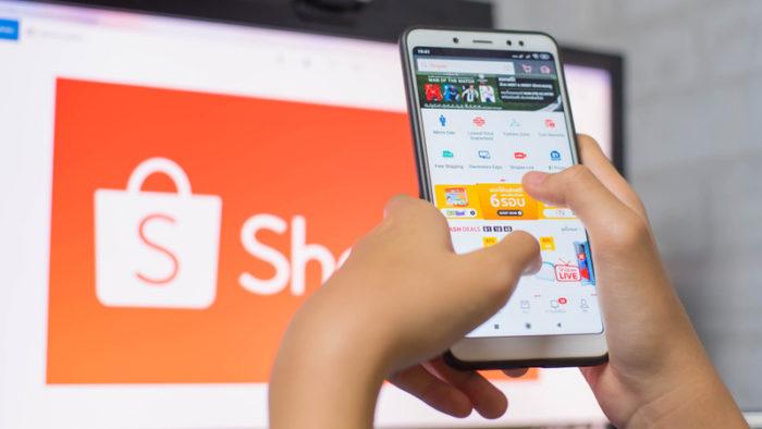 Aplicativo da Shopee no celular (Imagem: Divulgação/Shopee)
