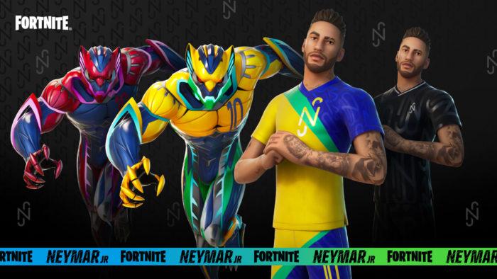Skins de Neymar Jr. em Fortnite (Imagem: Divulgação/Epic Games)