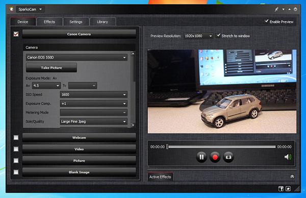 SparkoCam transforma câmera DSLR em webcam