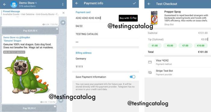 Para enviar produto na conversa, basta citar o @shopbot (Imagem: Reprodução/TestingCatalog)