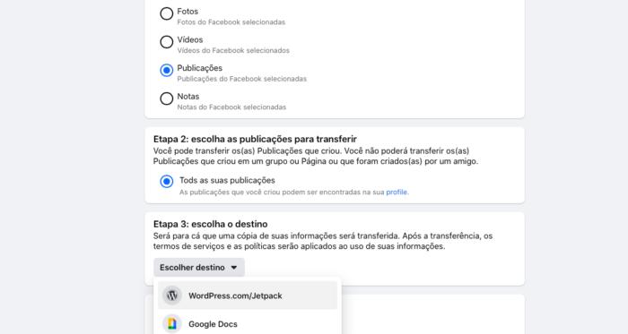 transferir posts facebook para wordpress (Imagem: Reprodução/Facebook)