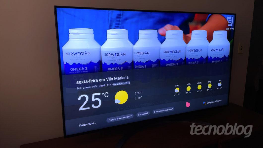 8K LG Nano96 TV (Image: Paulo Higa / Tecnoblog)