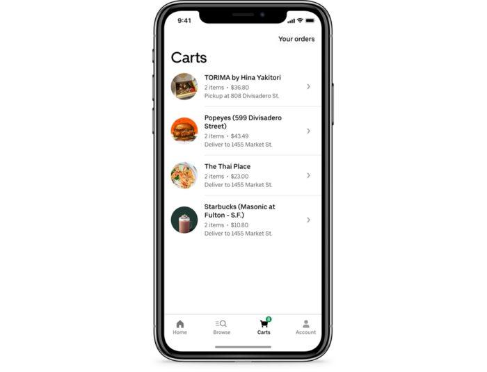 Várias compras no Uber Eats em um só pedido (imagem: divulgação/Uber)